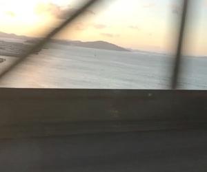 blue, bridge, and sunset image