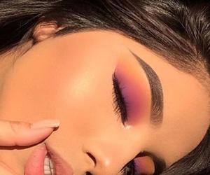 beauty, eyelashes, and makeup image