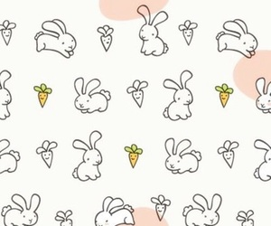 background, pattern, and bunnies image
