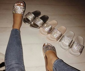 glitter, shoes, and slide image