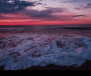 blue, pink, and beach vibes image