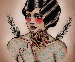 design, flapper, and tattoo image