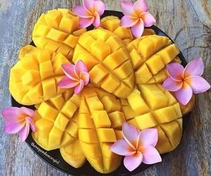 mango, fruit, and flowers image