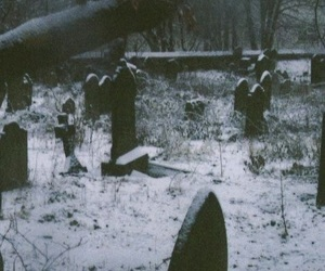 cemetery and snow image