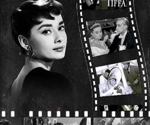 50's, audrey hepburn, and black and white image