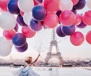 balloons, blue, and france image