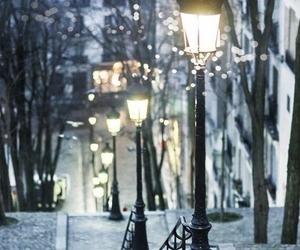 light, paris, and winter image