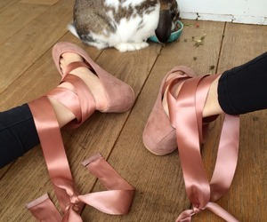 bunny, doll shoes, and flats image