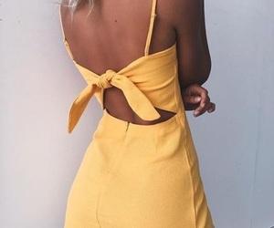 fashion, dress, and yellow image