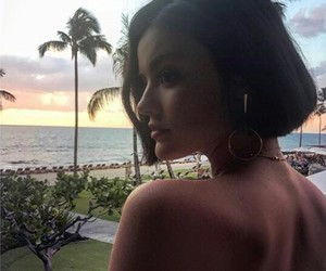 beauty, lucy hale, and beach image