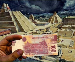 billete, tenochtitlan, and pesos image
