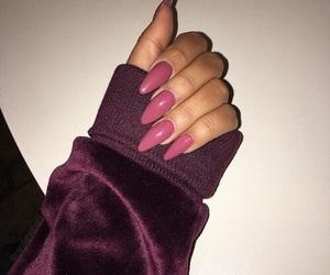 nails, girl, and pink image