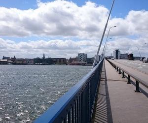 bridge, aalborg, and fjord image