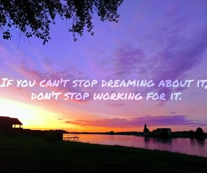 dreams, sunset, and follow your dreams image