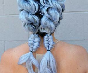 blue, braids, and fashion image