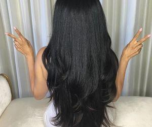 black, girl, and longhair image