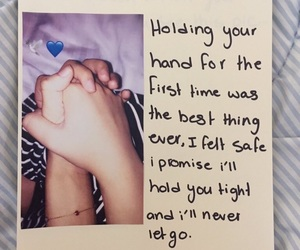 baby, quotes, and holding hands image