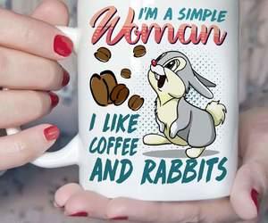 bunny, rabbit, and coffee image