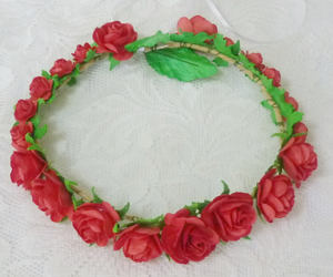 etsy, redflowercrown, and flower crown image
