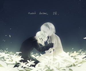 anime, couple, and 2b image