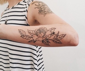 rose, tattoo, and Tattoos image