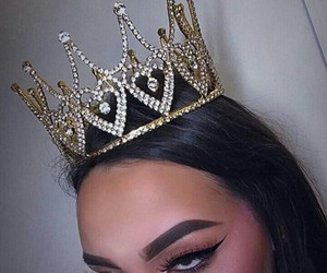 crown, eyebrows, and makeup image