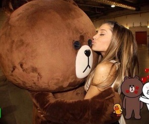ariana grande and bear image