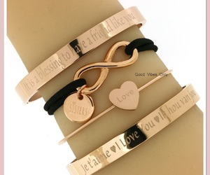 bff, love bracelets, and sisters image