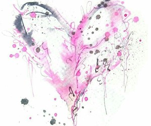 black, hearts, and pink image