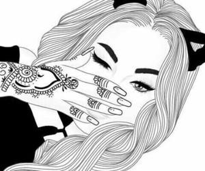 girl, draw, and tumblr image