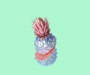 pineapple, pink, and silver image