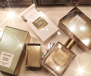 perfume, tom ford, and gold image