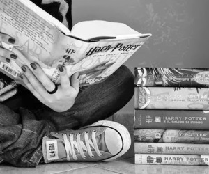 book, harry potter, and converse image