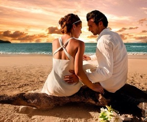 beach, couples, and love image