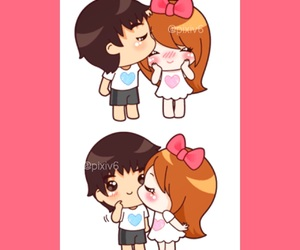 cartoon, couple, and حُبْ image