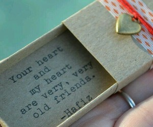 heart, quote, and friends image