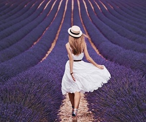 france, girl, and nature image