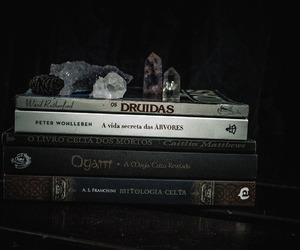 books, celtic, and crystals image