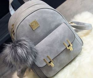 bag, fashion, and grey image