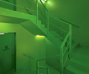 aesthetic, green, and lights image