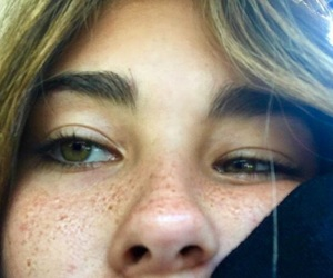 madison beer, freckles, and eyes image