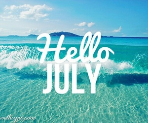 summer, july, and hello image