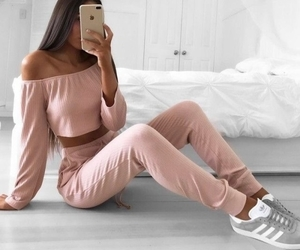 adidas, girl, and trousers image