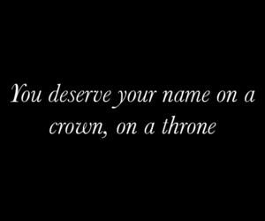 black&white, crown, and Lyrics image