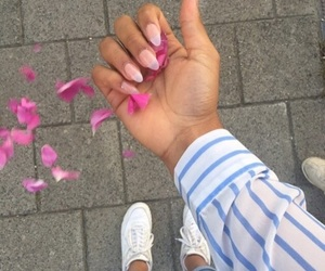 flowers, nails, and aesthetic image