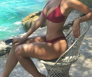 bikini, beach, and summer image
