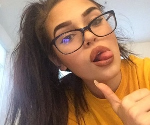girl, maggie lindemann, and glasses image