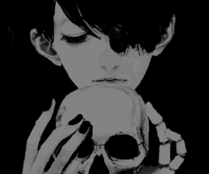 death, skull, and czaszka image