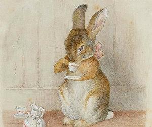 rabbit, bunny, and tea image