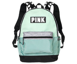 backpack, grey, and mint image
